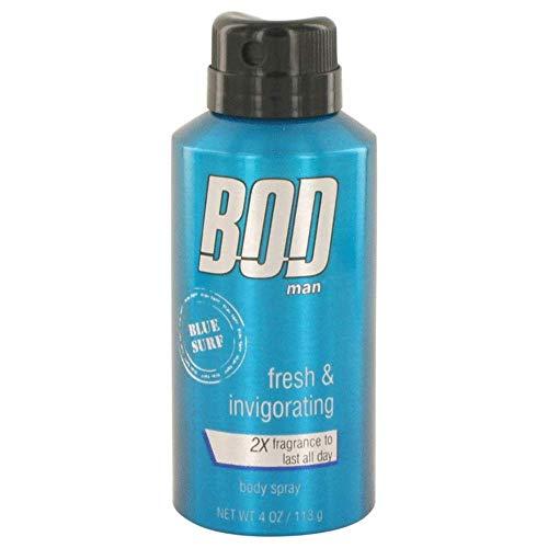 Bod Man Blue Surf By Parfums De Coeur Body Spray 4 Oz