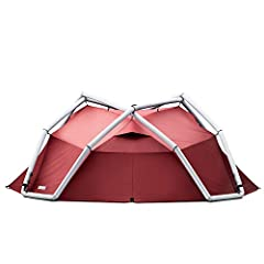 SET UP - With our tents you only need to connect the airframe, inner tent, and outer tent once before your first use. After that your tent can simply be rolled out like a sleeping bag, pumpen up and fixated with pegs in case of strong winds. To pack ...