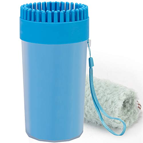 CHOOSEEN Dog Cleaner Upgrade 2 in 1 Dog Paw Cleaner Dog Brush Dog Grooming Dog Cleaning Paw Cleaner Portable Dog Foot Washer for Dog Cat