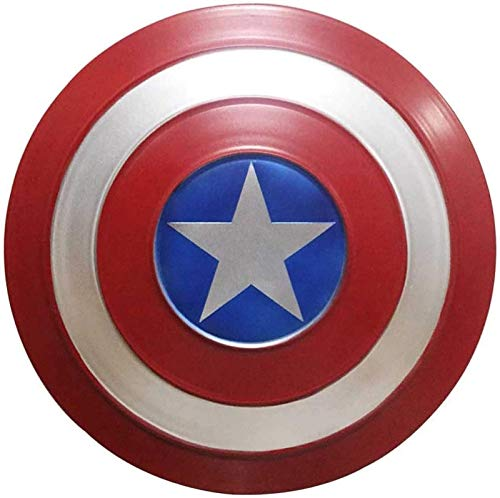 HLWJXS Capitán América Escudo de Metal Adultos1: 1 Vengadores Edición de película de Mano Superhéroe Disfraz Traje Accesorios Juego de rol Juguete Retro Pared Escudo Creativo Decoración de Barra Re