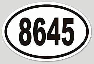 Removable 8645 Bumper Laptop Sticker Vinyl Weatherproof Anti-Trump (1) Supports SPLC