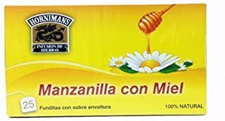 Hornimans Manzanilla Con Miel (Chamomile Tea) 50grs. 25 Envelopes Per Box 12-pack