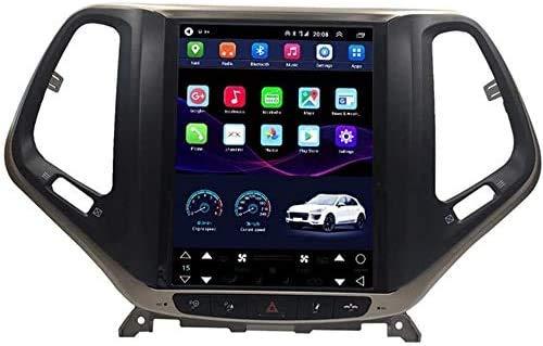 BUSUANZI GPS Navigation Car Radio Coche Estéreo - para Jeep Grand Cherokee 2014-2016, Nav con Bluetooth Sat Nav WiFi Android USB Player Pantalla táctil,4g+2g+32g