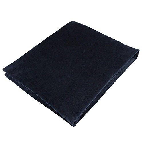 McAlister Textiles Mat Couverture en Velours Peluche et Doux Chemin de Lit, Canapé et Fauteuil - Accessoire - 50x240cm | Couleur Noir Sombre Uni
