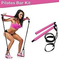 Wonner Portable Home Gym Workout Pilates Bar Kit with Resistance Band