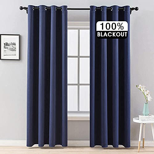 MIULEE 100% Blackout Curtains Thermal Insulated Solid Grommet...