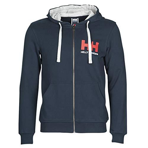 Helly Hansen Herren Hh Logo Full Zip Hoodie, Navy, L