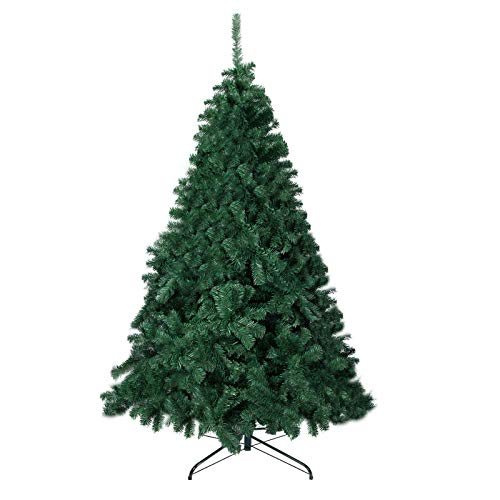 BOCCA 8FT Christmas Tree Artificial Pine Tree for Holiday Decorations or Gifts with 1500 Branch Tips, Green