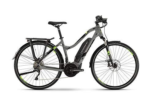 HAIBIKE Sduro Trekking 4.0 Damen Pedelec E-Bike Fahrrad grau/schwarz/grün 2019: Größe: S