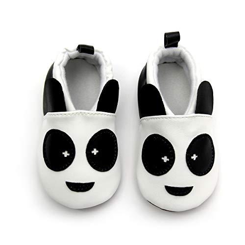 koshine Baby Schuhe Baumwolle Krabbelschuhe Kinder Lauflernschuhe 0-18 Monate (12-18 Monate, Panda), 20/21 EU (Etikette 13)