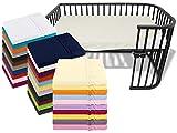 npluseins Kinder Jersey Spannbetttuch für Kinder- und Babybetten 170.181, ca. 60 x 120 cm, Creme
