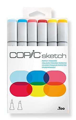 Kit Copic Sketch 6 Cores Perfect Primaries