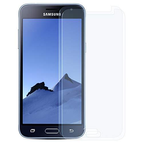 ZhinkArts 2X Bildschirmschutz Panzer Folie für Samsung Galaxy J1 2016 / J120 Bildschirmfolie Panzerglas Echt Glas Schutzglas 9H