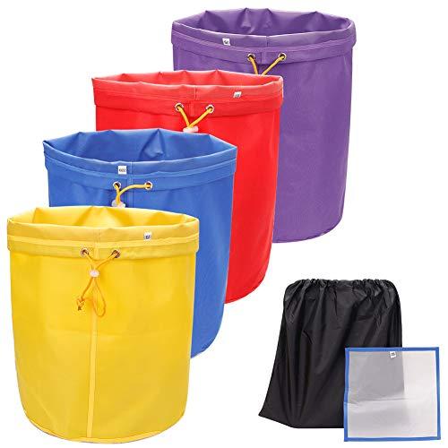 Juego de 5 galones 4 piezas de bolsas de burbujas, bolsa de extracción de esencia de hielo a base de hierbas, bolsas de burbujas, kit de burbujas con pantalla de presión y bolsa de almacenamie
