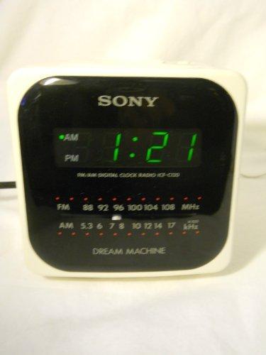 Vintage Sony Dream Machine AM/FM Radio Alarm Clock Model ICF-C120 White