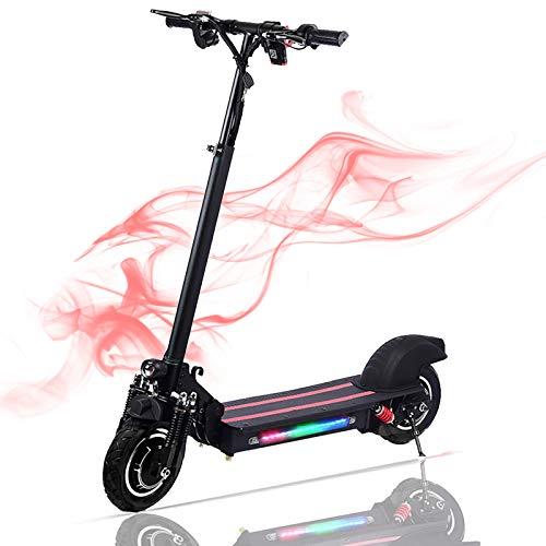 Lamtwheel Faltbarer Elektroroller E Scooter - 1200 Watt Bürstenloser Motor - 40-60 Km/H Und 50-60 Km Reichweite Mit Geländereifen - 48V / 22Ah E Roller Für Erwachsene (Schwarz, 1200W)