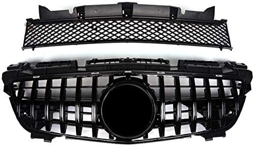 ACYCY Mit Led-Beleuchtetem Logo-Grill, Abs-Frontkühlergrill, Passend Für Mercedes Benz SLK Klasse R172 200 250 350 2012~2021,2016~2021 Black B