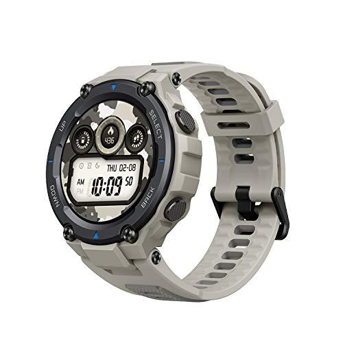 Amazfit T-Rex Pro Smartwatch Fitness Monitor de Sueño y Ritmo cardiaco 10 ATM GPS Reloj Inteligente Deportativo con más de 100 Modes Deportes Duración de batería 18 días Resitente Diseño (Gris)