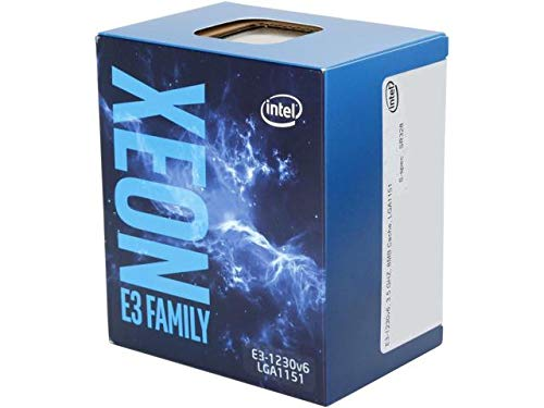 Intel Xeon   Processor E3-1230 v6 (8M Cache, 3.50 GHz) 3.5GHz 8MB Cache intelligente Scatola processore