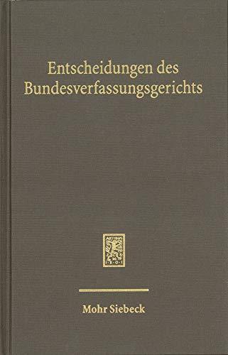 Entscheidungen des Bundesverfassungsgerichts (BVerfGE): Band 150