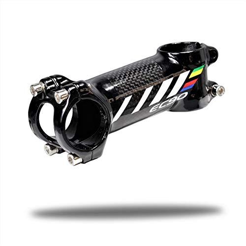 QYWSJ Vástago del Manillar de Bicicleta de Carbono, Aleación de Aluminio Ultraligera + Fibra de Carbono, Manillar Corto para Bicicletas Track Fixie, 60/70/80/90/100/110 mm