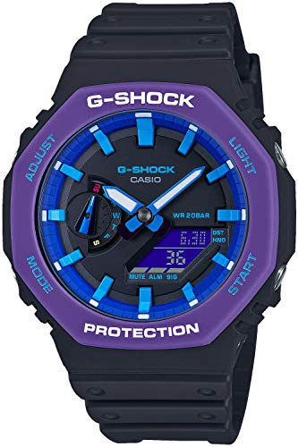 Casio G-shock Throwback 1990 Carbon Core Guard GA-2100THS-1AJR Homme