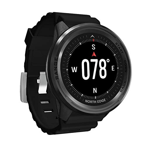 LKM Smart Sports GPS al Aire Libre GPS Reloj Impermeable Altitud Presión de Aire Compass Termómetro Tasa del corazón Multifuncional Reloj de Buceo,C