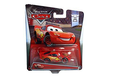 Disney Pixar Cars Lightning Mcqueen (Piston Cup, #14 of 18) - Voiture Miniature Echelle 1:55