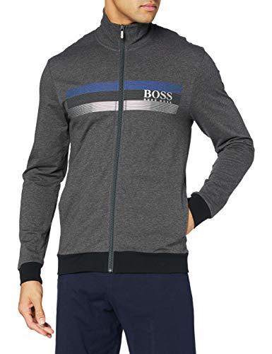 BOSS Authentic Jacket Z Sudadera con capucha, gris oscuro, M para Hombre
