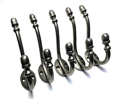 Garderobenhaken, Eichel-Design, antikes Eisen, 130 mm, 5 Stück
