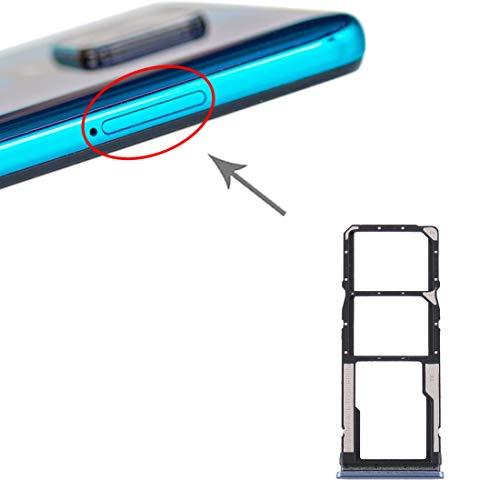 Carro bandeja (color gris) con ranura para tarjeta nano SIM 1 + SIM 2 + ranura para tarjeta micro SD compatible con Xiaomi Redmi 9 Redmi Note 9S