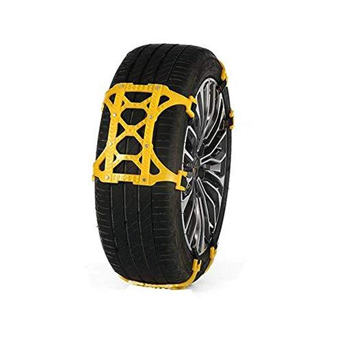 Cadena para neumáticos de 6 Piezas, Hebilla a presión de Emergencia, Cadena Antideslizante para neumáticos, Cadenas para neumáticos Antideslizantes para la Nieve, seguras y cómodas