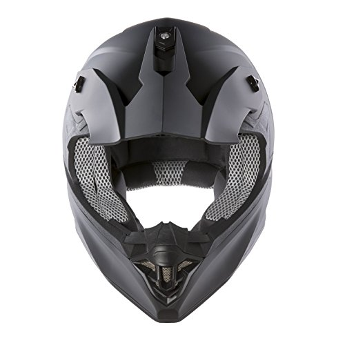 Panthera Moto Cross FS607 - Casco de moto, Negro Mate, XL