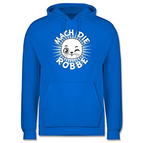 Shirtracer Sprüche - Mach die Robbe - XS - Himmelblau - Spruch - JH001 - Herren Hoodie und Kapuzenpullover für Männer