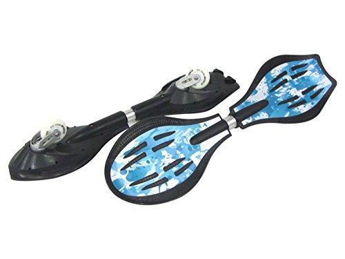 MAXOfit, Waveboard Pro Close Mini Ice, fino a 129 Kg, con rotelle luminose e sacca da trasporto