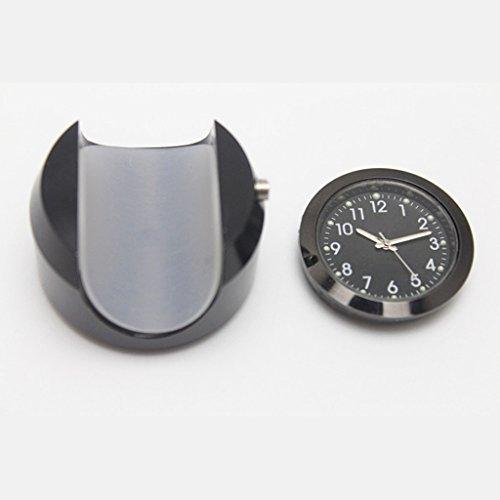 Unbekannt 7/8'1' Motorrad Lenker wasserdichte Einbauzeit Dial Uhr Uhr Schwarz