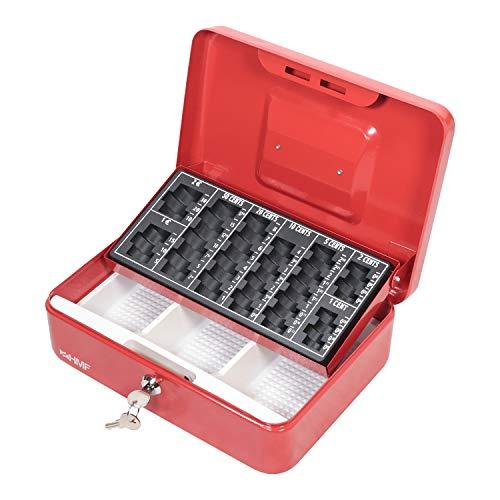 HMF 10022-03 Geldkassette Geldzählkassette 25 x 18 x 9 cm, rot