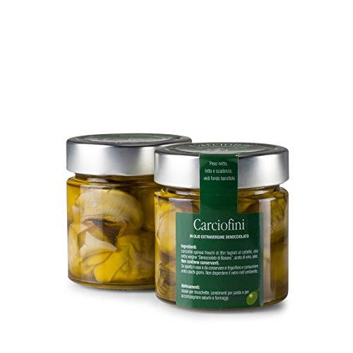 Cuori di carciofini in olio extravergine di oliva - Fratelli Pinna - Sardegna - Vaso di vetro - ML - -