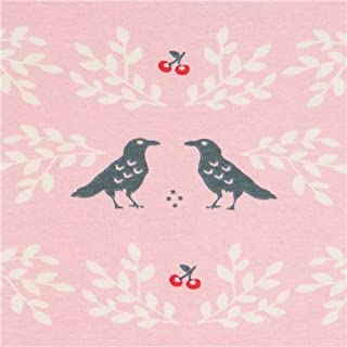 knit fabric with birds, Collection: Merryweather, Design: Arleen Hillyer (per 0.5 yard unit)