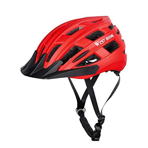Casco de bicicleta de montaña con 24 entradas de viento, ajuste libre, patinete, casco desmontable, media abierto, para adultos, hombre y mujer