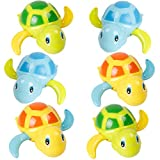 6 Pack Swimming Turtles Floating Wind-Up Baby Bath Toy, Bathtub Wind-up Summer Pool Water Fun Party Favors