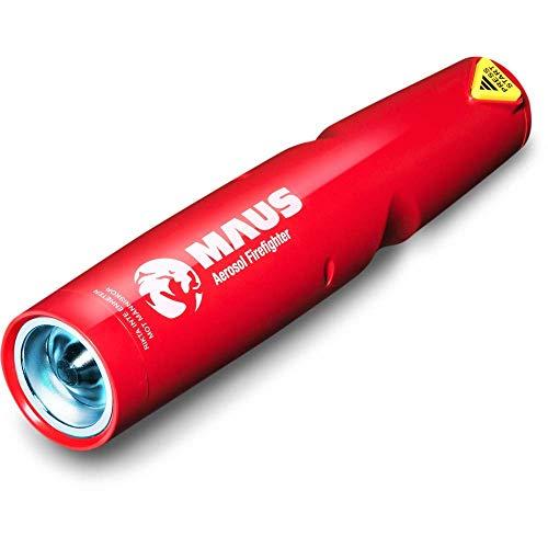 XTIN Aerosol Feuerlöscher Rückstandsfrei 24 cm Handlich Taschenformat mit Wandhalterung