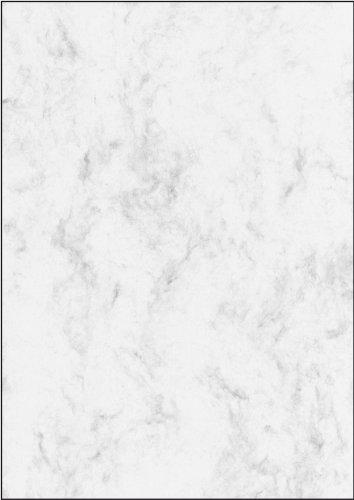 SIGEL DP371 Marmor-Papier grau, A4, 100 Blatt, Motiv beidseitig, 90 g - weitere Farben