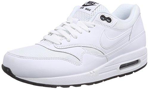 Nike Air Max 1 Essential, Chaussures de Sport Homme, Multicolore (White/White-Black), 47.5