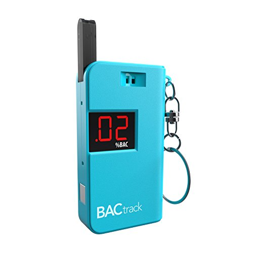 BACtrack Keychain Breathalyzer Portable Keyring Breath Alcohol Tester, Blue