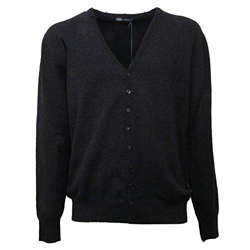 Daniele Alessandrini C0603 Maglione Uomo Cardigan Lana Cotta Nero Sweater Men [54]