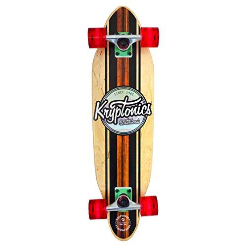 Kryptonics Skateboard Cruiser - California Series - 30 Zoll - Honolua, Beige-Schwarz-Braun, SK14160029