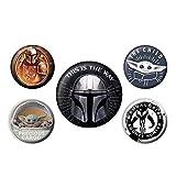 Lot de 5 badges Star Wars The Mandalorian