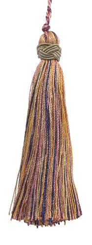 Set of 10 Decorative Dusty Rose,Olive Green, Eggplant 10cm Tassel, Imperial II Collection Style# ITS Color: OLIVE ROSE - 1010