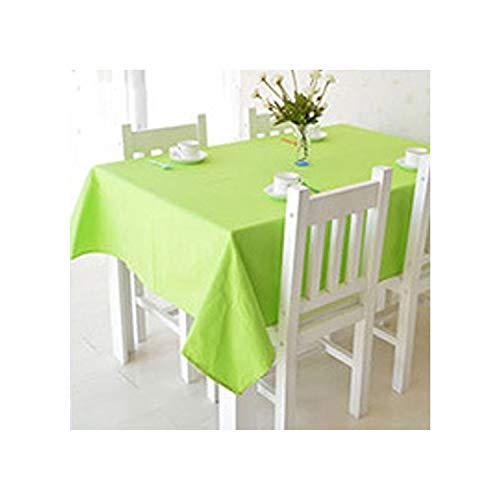 KenFandy Partei-Bankett-Hotels Esstisch Abdeckung Modernes festes weißes Rechteck Tischtuch Tischdecke Home Küchentischdecken, Hellgrün, 100 * 160cm
